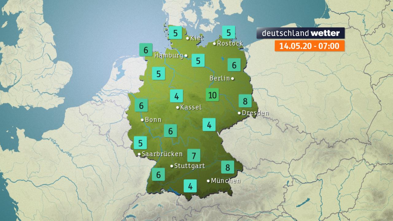 aktuelle Temperaturen in Deutschland (ZDF)