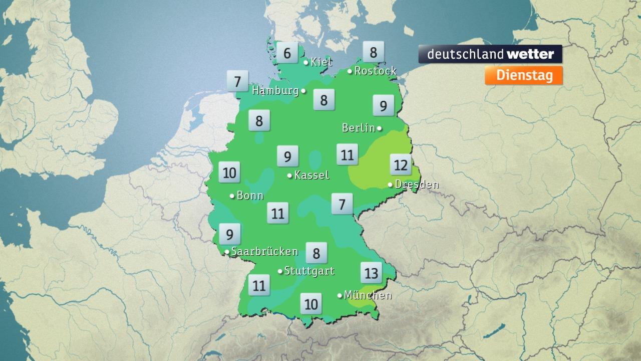 Temperaturen Deutschland Nachts vom ZDF