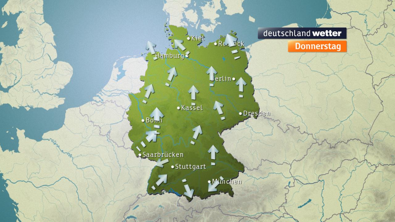 Windverhältnisse über Deutschland (ZDF)